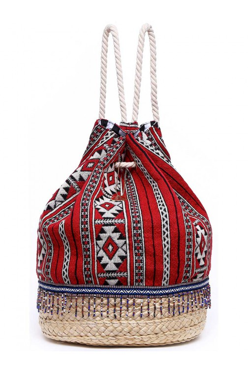 TRC Beachbag Ibiza, rond in rood
