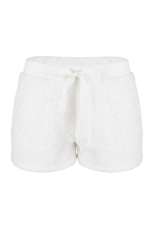 Jacky Luxury kanten short in wit