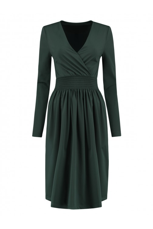 Nikkie suze travel dress in green