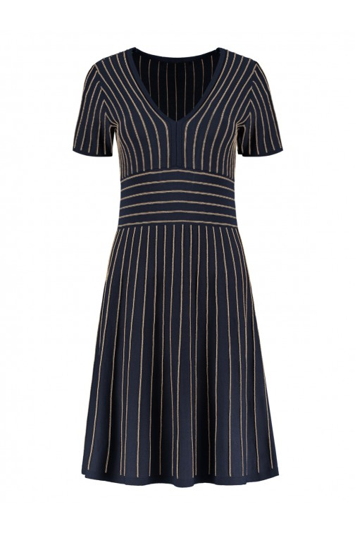 Nikkie Kelis dress in navy - gold