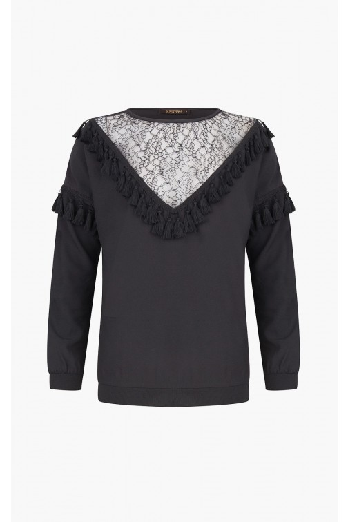 Supertrash Bestiny - tassel blouse