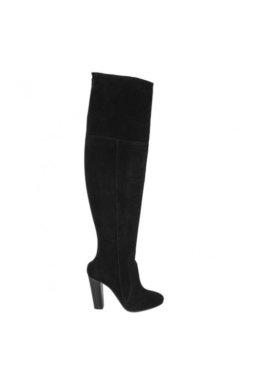 So Jamie Busines overknee boots in zwart