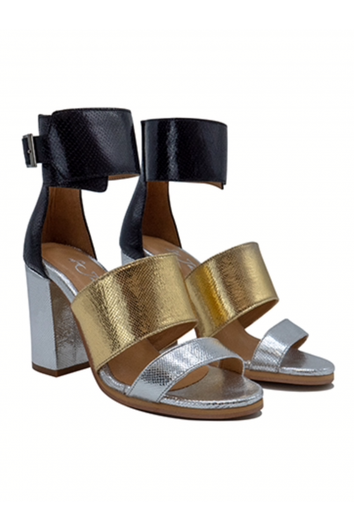 So Jamie Date-night heels in gold-silver