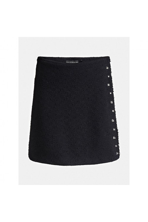 Guess rok in zwart boucle Doreen