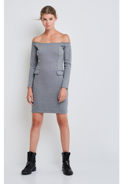 Supertrash Dourney offshoulder dress