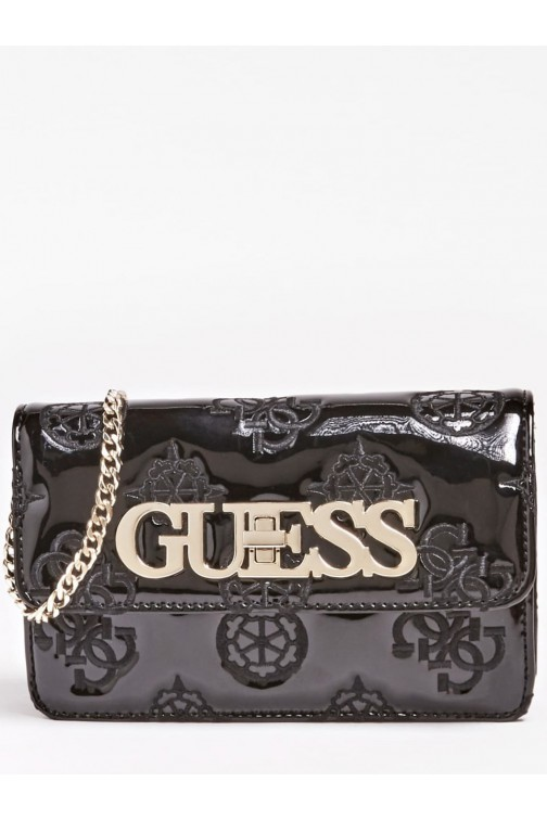 Guess Chic schoudertas in zwart lak