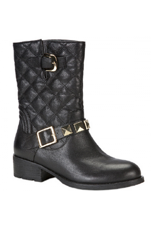 Glamorous Boots in Black with golden details
