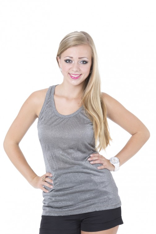 Mogene top in Silver