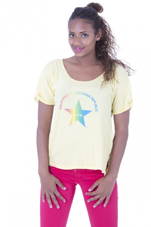 CCR brand star shirt in yellow