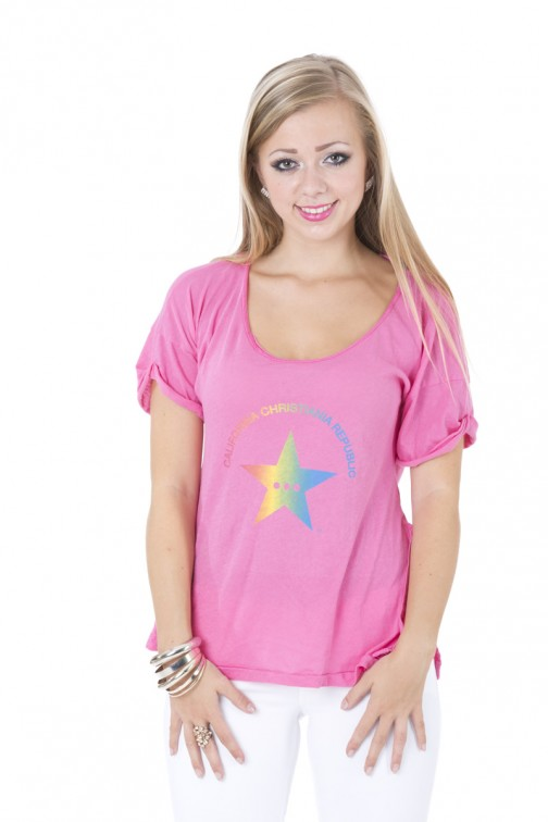 CCR brand star shirt in Pink