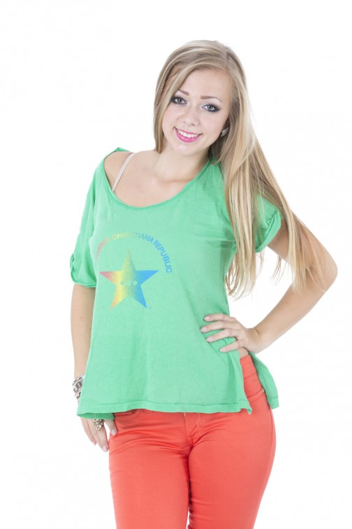 CCR brand star shirt in Green