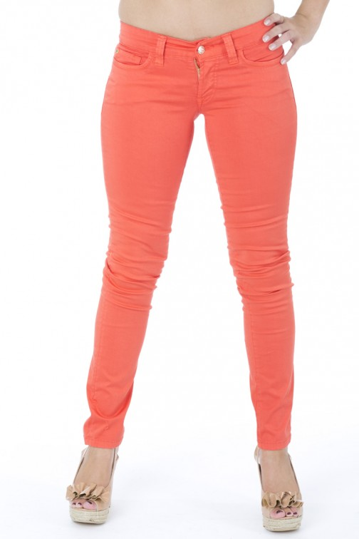 SOS skinny jeans in Orange