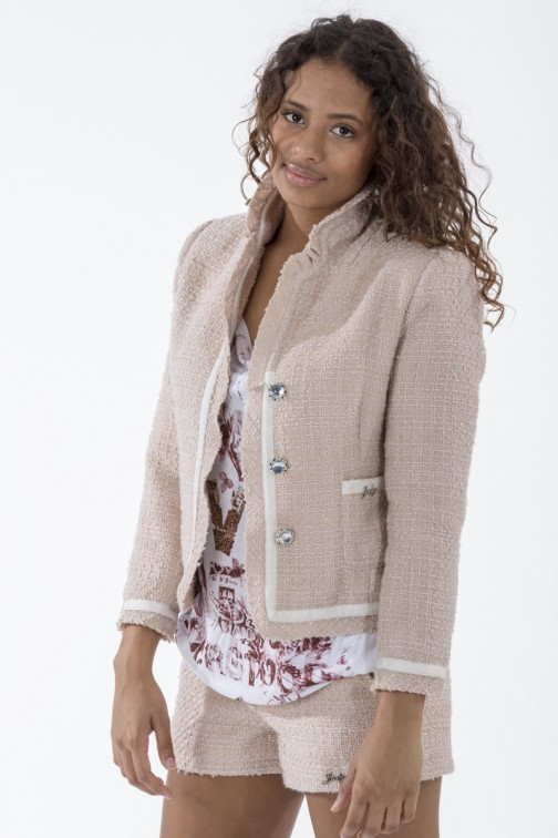 Jacky Luxury tweed jacket in cream