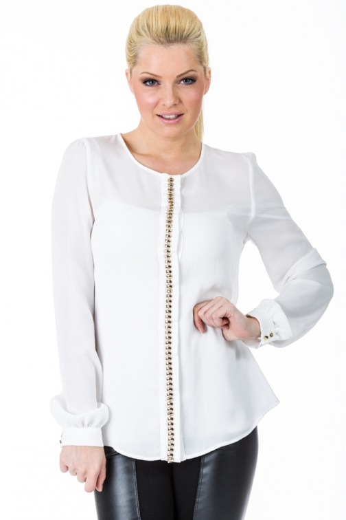 G-sel blouse in White&Gold