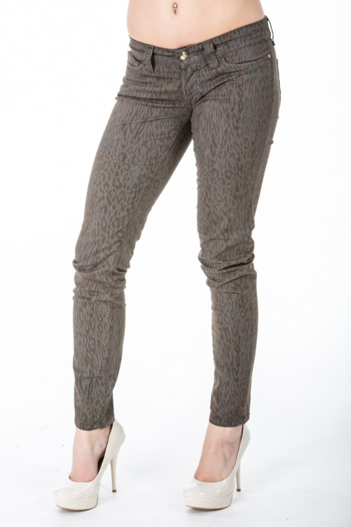 Animal print jeans in taupe SOS jeans