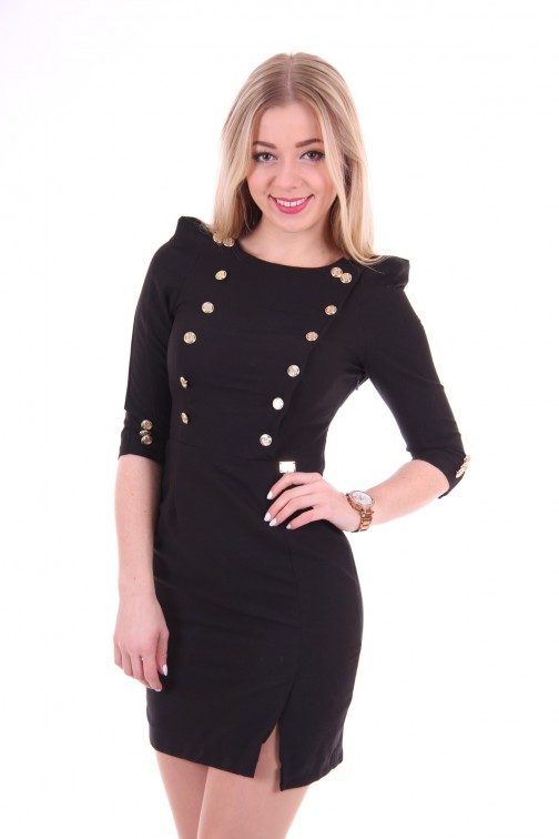 Relish black dress gold