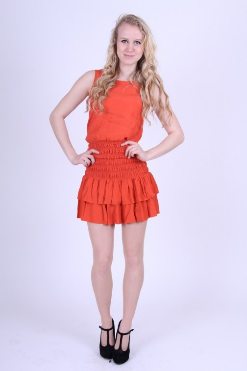 Coral G-sel Dress
