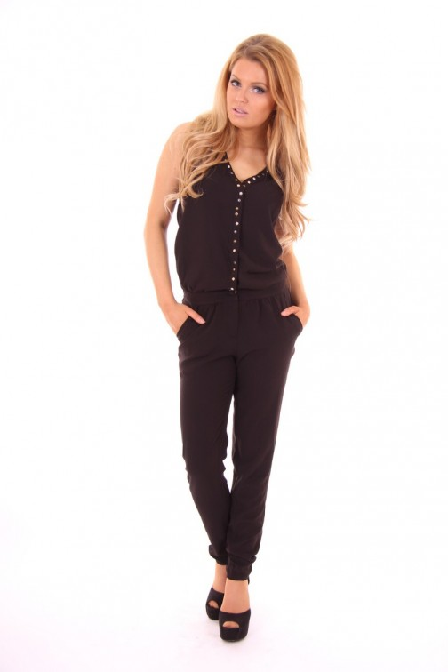 By Danie jumpsuit black studs