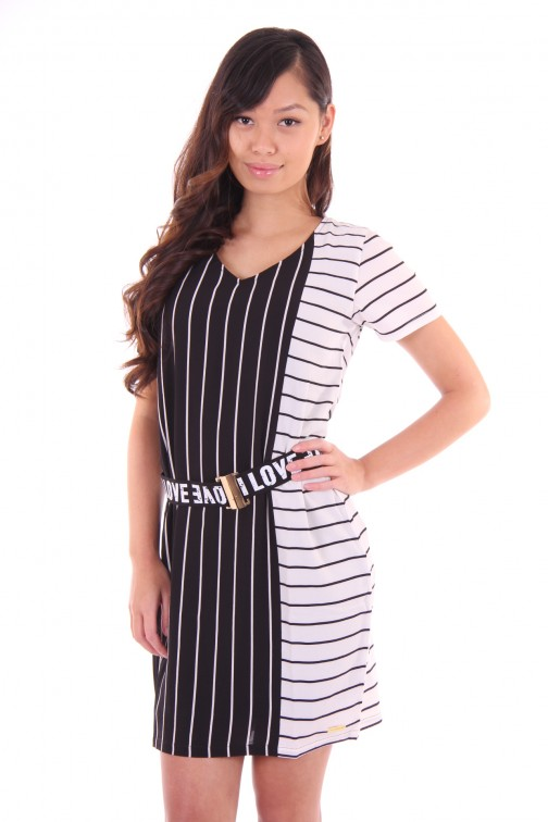Tailor & Elbaz dress black & white stripes
