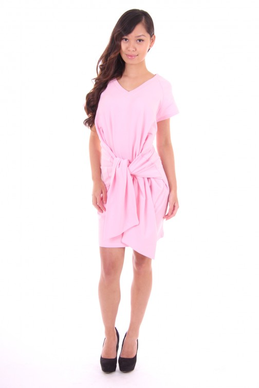 Tailor & Elbaz dress pink branca