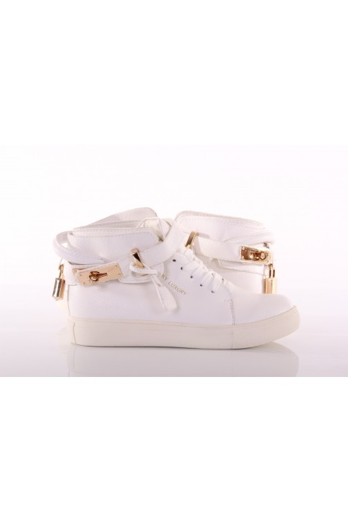 Jacky Luxury sneakers White&Gold
