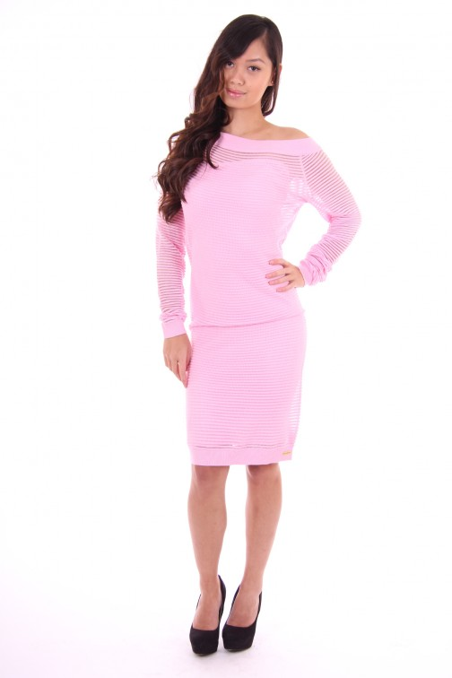 Tailor & Elbaz dress pink stripes Bernice
