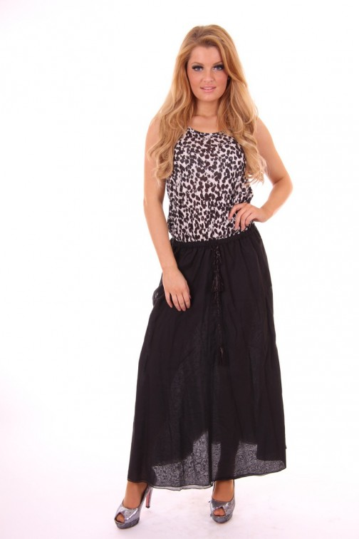 By Danie leopard maxi dress