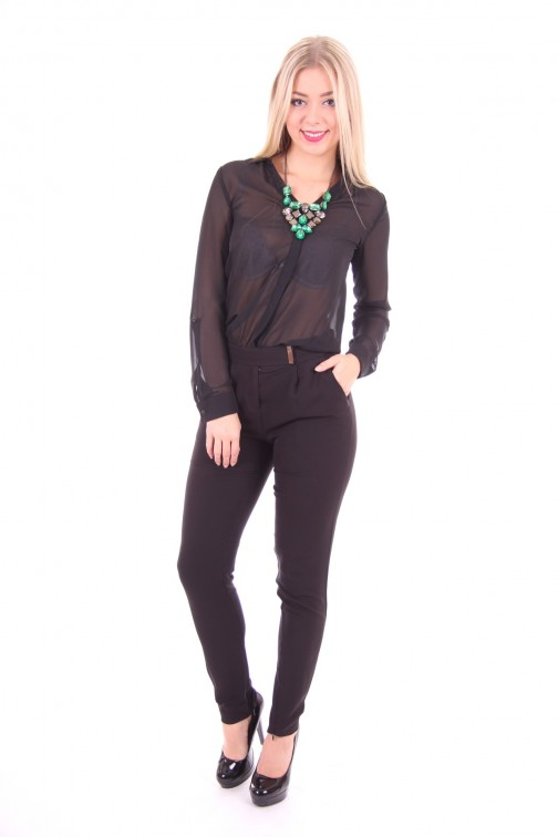 Gaudi jumpsuit black + crystal nacklace