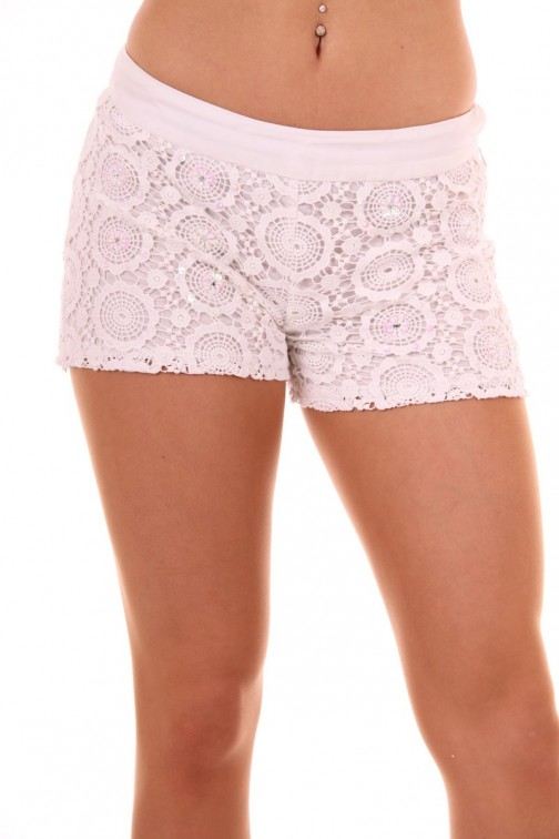 Jacky Luxury crochet short white