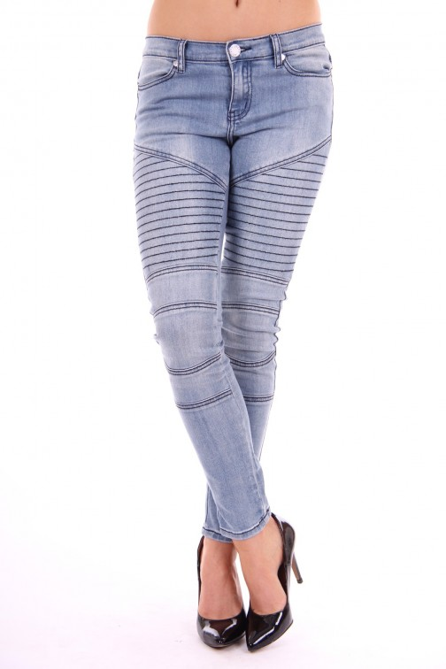 Jacky Luxury light denim bikerjeans
