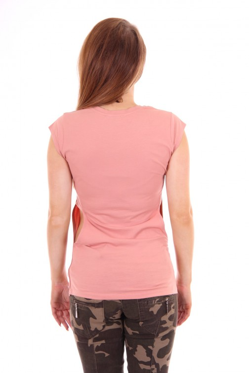 Josh V cut-out shirt peach