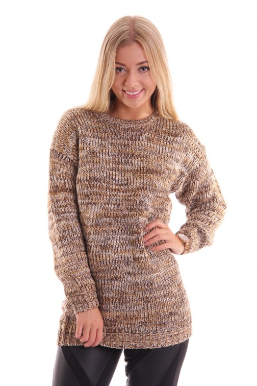 Knitted - Oversized sweater - creme