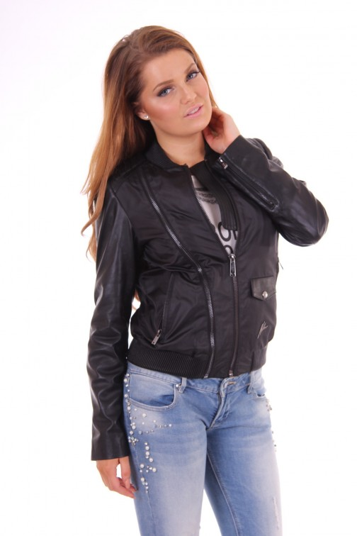 Nickelson leather jacket black