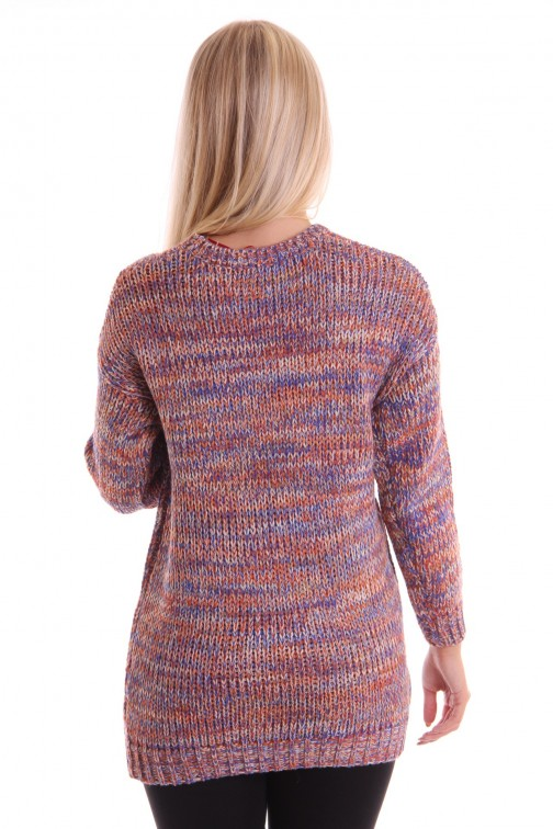 Oversized knitted sweater in multicolour