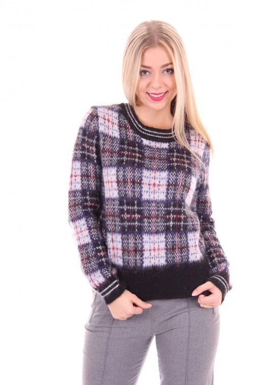 Gaudi knitted sweater chequered