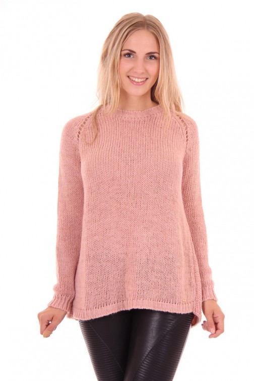 Miss Money Money soft Pink knitwear met voile