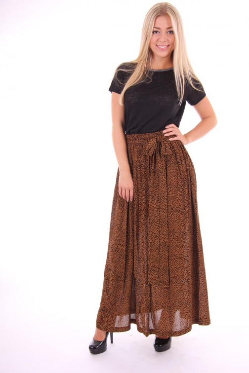 By Danie leopard maxi skirt+dress