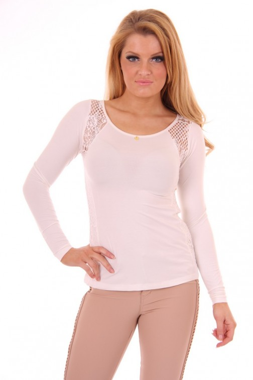 Given anne top white lace
