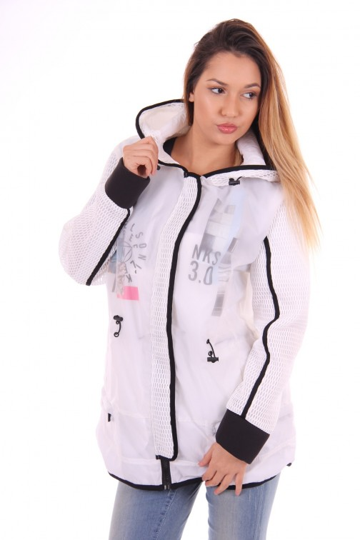 Nickelson long Jacket white