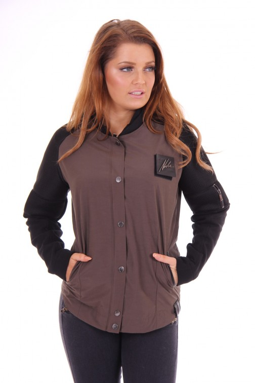 Nickelson bomberjacket Black&Brown
