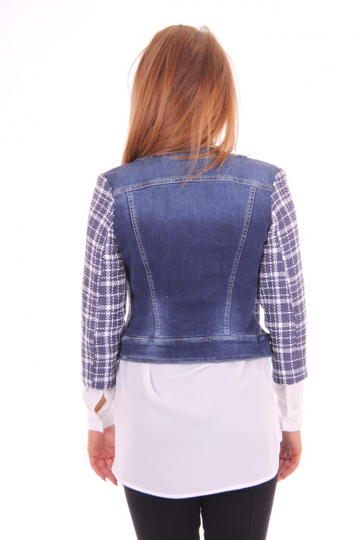 Kocca tweed jacket denim blue