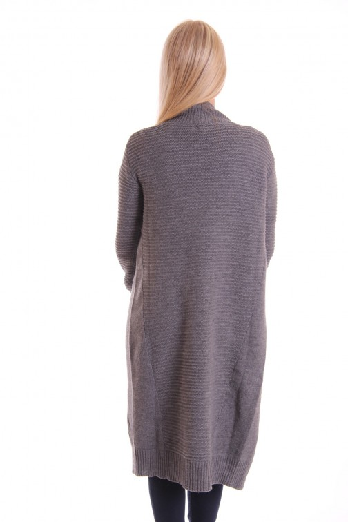 Supertrash chapeau knitted cardigan grey