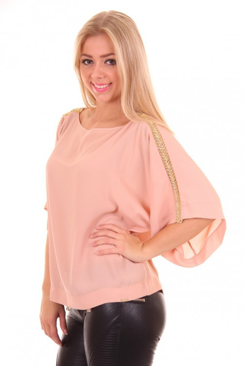 Miss Money Money top in soft pink