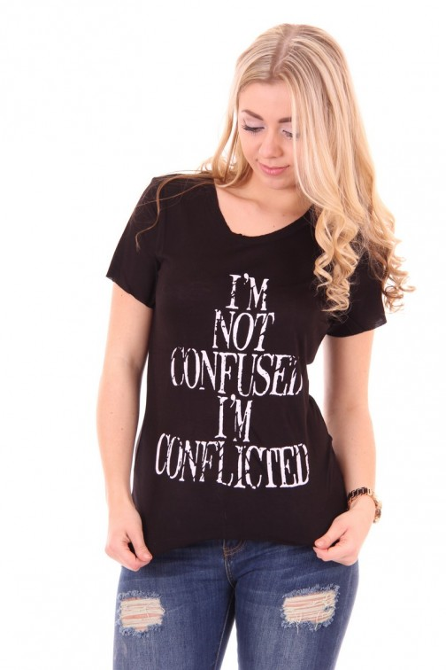 B.loved Confused shirt Black