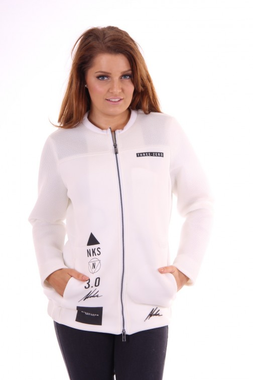 Nickelson bomberjacket white