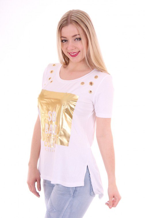 Relish long Shirt gold