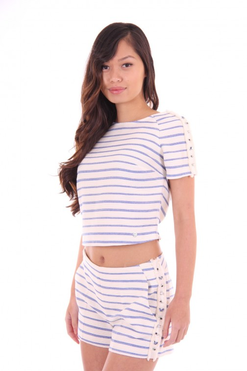 Kocca crop top blue&white