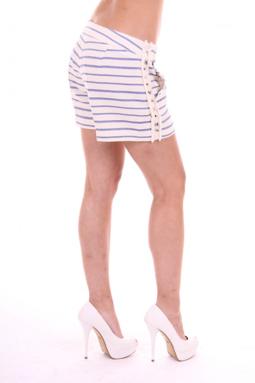 Kocca short stripes blue&white