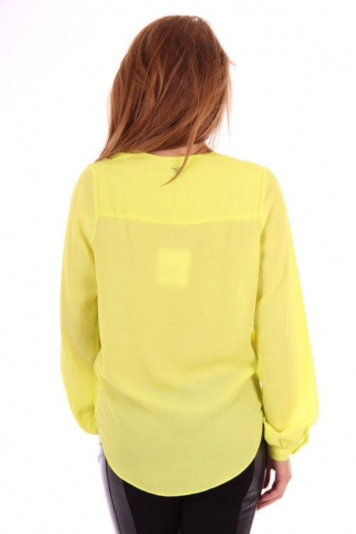 Fracomina blouse yellow lime