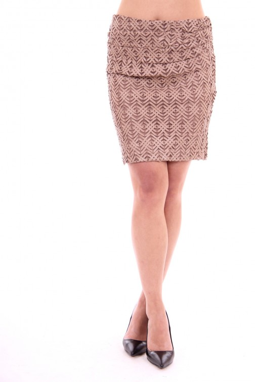 Relish leather skirt brown